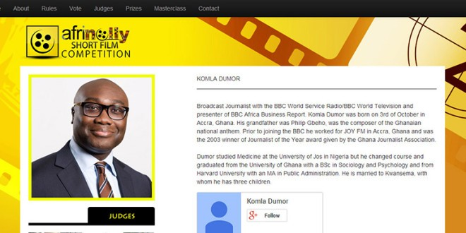 Afrinolly Postpones Announcement of Winners to Mourn BBC's Komla Dumor, One of It's Judges