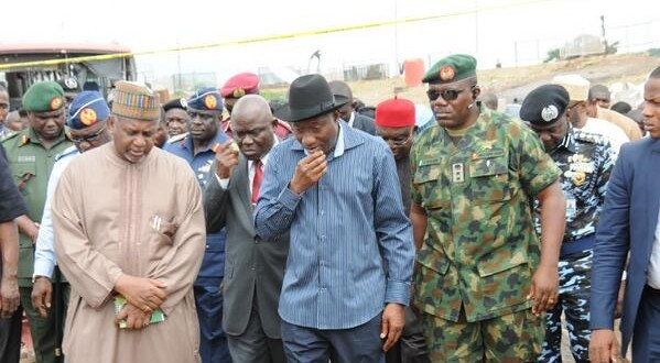 Jonathan Visits Scene Of Abuja Bomb Blast, Expresses Sadness, Orders Heightened Security In Abuja  [PICTURES]