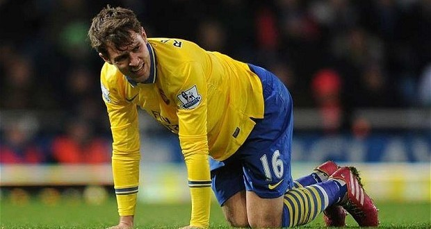 Aaron Ramsey To Miss Six Weeks With Hamstring Tear