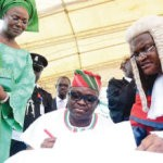 Fayose Blasts Fayemi as he is Sworn-in