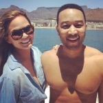 Shirtless John Legend & Wife Touring S.A