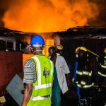 New Year Tragedy: Fire guts office building in Ikeja.